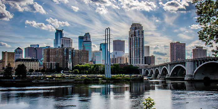 Minneapolis from a river view