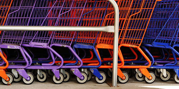 colorful shopping carts