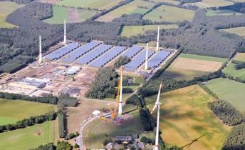 a renewable energy farm