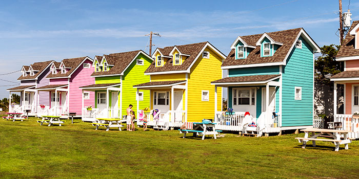 Colored Houses represent the American Dream