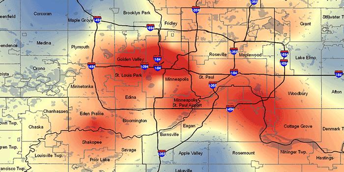 Minnesota Heat Map Islands in the Sun