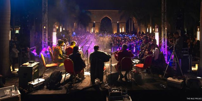 The Nile Project performs at Northrop