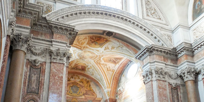 Baths of Diocletian converted to a church by Michelangelo