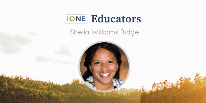 Portrait of Sheila Williams Ridge smiling